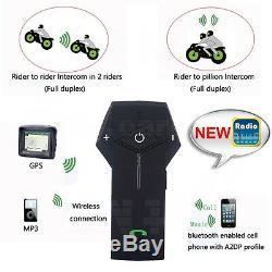 1000M BT Intercom Motorcycle Motorbike NFC Bluetooth Helmet Headset FM+Remote US
