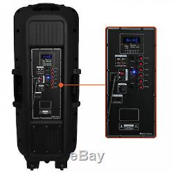 12 Inches Bluetooth Portable Pa Party Speakers System Wireless Microphone Remote