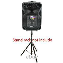 12 PA Bluetooth Speaker Karaoke Disco DJ Audio USB/TF/SD 2 Remote Wireless Mics