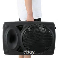12 Portable Remote Audio PA Speaker with Bluetooth USB Wireless microphone