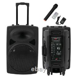 12 Wireless Portable Party Bluetooth Speaker Rechargeable with Microphone Remote