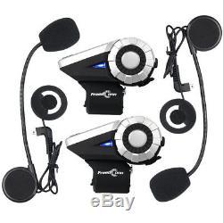 1500M Motorcycle Intercom BT 8-Way Wireless Bluetooth T-REX Interphone FM+Remote