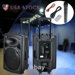15 Portable Bluetooth USB Active PA Speaker withWireless Mic & Remote Party Show