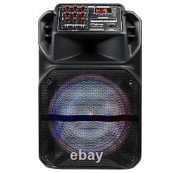 15 Trolley Party Bluetooth Speaker Wireless Stereo Loud WithLED Light Remote USA