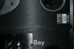 (1 PAIR) KLIPSCH R-15PM 50 WATT BLACK BOOKSHELF SPEAKERS With REMOTE (PRE-OWNED)