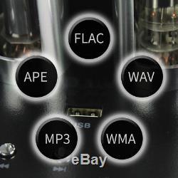 220V Vacuum Tube Audio Amplifier HiFi Power Amp Wireless Bluetooth USB Remote