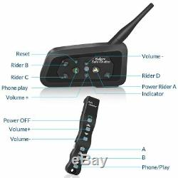 2PCS LEXIN A4 motorcycle helmet bluetooth headset Intercom with remote control