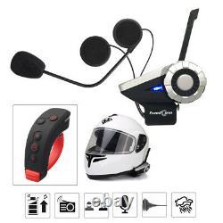 2X 1500M Motorcycle Intercom 8-Way Wireless Bluetooth T-REX+Remote Interphone FM