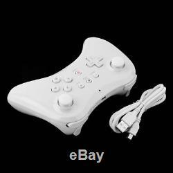 2X White U Pro Bluetooth Wireless Remote Controller Gamepad For Wii U Console