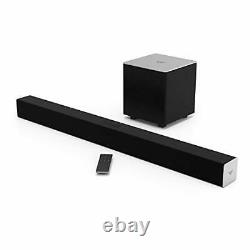 2.1 Channel Audio Sound Bar Wireless Subwoofer Bluetooth Home Theater Black 38