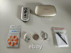 2 Digital Hearing Aids Naida Q50-RIC Power BTE Wireless/Bluetooth+Remote