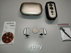 2 Digital Hearing Aids Phonak Audeo V50-312 RIC Wireless/Bluetooth+Free Remote
