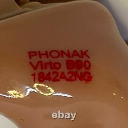 2 Digital Hearing Aids Phonak Virto B90 ITC Wireless/Bluetooth+Remote