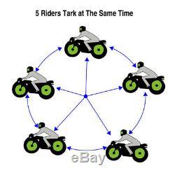 2x Bluetooth Motorcycle Helmet Intercom Remote Control Headset BT 8 Rider 1200M