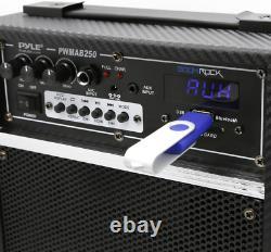 300 Watt Outdoor Indoor Wireless Bluetooth Portable PA Speaker 6.5 in. Subwoofer