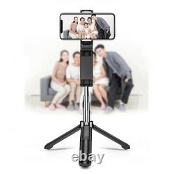 30XBluetooth Selfie Stick Tripod with Detachable Wireless Remote Control f E1T2