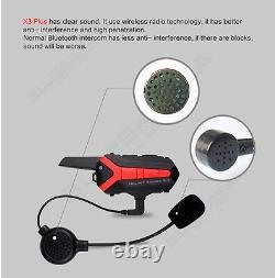 3x Motorcycle Blue-tooth Intercom Helmet Headset Walkie Talkie + Remote Control
