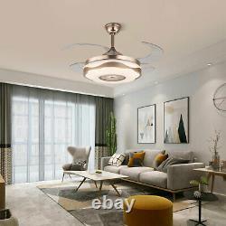 42 Ceiling Fan Light Wireless Bluetooth Chandelier Retractable LED Fan WithRemote