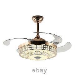 42 Wireless Bluetooth Ceiling Fan Light LED Pendant Lamp & Remote Control 8-25