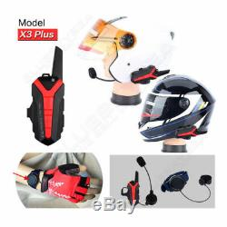 4x Motorcycle Blue-tooth Helmet Intercom Headset Wireless Remote PPT 400-470MHZ