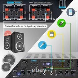 500W Karaoke Wireless Bluetooth Amplifier 4 Channel Stereo Audio Home Theater
