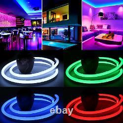 50M RGB Neon Flex 220V RGB Rope Light IP67 Waterproof RGB LED Strip Outdoor Use