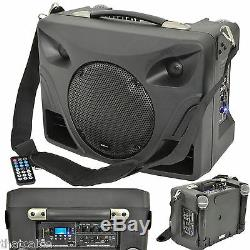 50W Portable Outdoor PA Speaker System Mobile Wireless Microphone Active Music