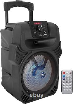 8 Wireless Portable Party Bluetooth Speaker Heavy Bass With Remote Control Black