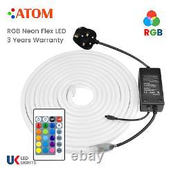 ATOM LED 220V RGB Neon Flex Light 5050 IP67 Light Outdoor RGB Neon Flex UK Plug