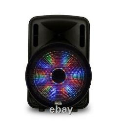 Acoustic Audio Party Speaker 15 Inch LED Bluetooth Wireless Microphone Remote