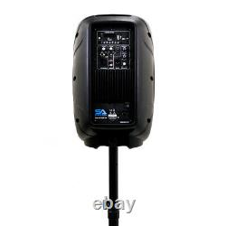 Active 10 DJ Karaoke Speaker & Stand Bluetooth LED Wireless Mic Cables Remote