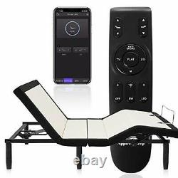 Adjustable Bed Frame, Wireless Remote Adjustable Base with Bluetooth APP Full