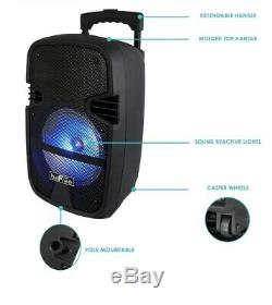 BEFREE 8 400w BLUETOOTH PORTABLE DJ PA Party TAILGATE Speaker with MIC & REMOTE