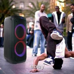 BEFREE SOUND DUAL 8 PORTABLE PARTY SPEAKER /w BLUETOOTH WIRELESS LIGHTS REMOTE