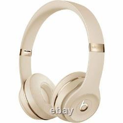 Beats By Dre Solo 3 Wireless Bluetooth On-Ear Headphones w Mic/Remote Satin Gold