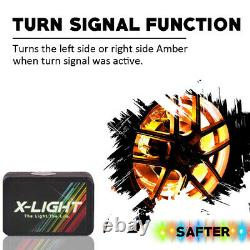 Bluetooth 15 RGB LED Wireless Wheel Rings Lights Color Changing /3 Ways Control