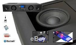 Bluetooth Pyle TV Soundbar 3D Surround Sound Speaker System USB/SD AUX FM Remote