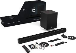 Bluetooth Sound Bar with Wireless Subwoofer for Home Theater and Remote In Wall