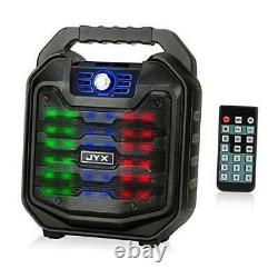 Bluetooth Speaker with Sound Activated Light and Remote, Portable Wireless