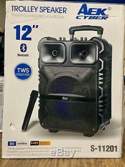 Bluetooth speaker AEK Cyber 12 (wireless Mic)TWS Extra Bass Remote Rechargeable