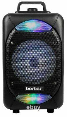 Bosbos P-07 Eclipse Wireless Bluetooth Speaker with Karaoke Mic & Remote Control
