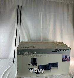 Bose Cinemate Digital Home Theater Speaker System In Box With Remote & Stands