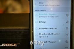 Bose Solo 5 sound system withnew Bluetooth remote, wall bracket, tried/tested/true