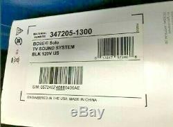 Bose Solo TV Sound Bar System Wired Black Single Speaker Remote Control Open Box