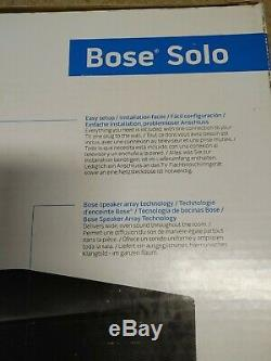 Bose Solo TV Sound Bar System Wired Black Single Speaker Remote Control Used