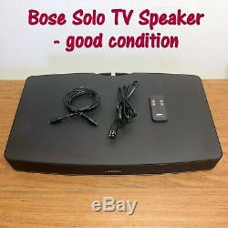 Bose Solo TV Sound System Speaker with Remote & Cable, 410376 Good Condition