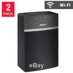 Bose SoundTouch 10 Wi-Fi Bluetooth Speakers 2 Pack, with Power Cable and Remote