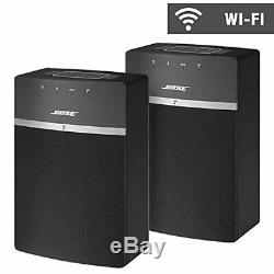 Bose SoundTouch 10 Wi-Fi Speakers 2-Pack Black WithRemote Control (Brand New)