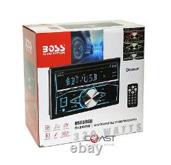 Boss CD MP3 USB Bluetooth Stereo Silver Dash Kit Harness for 05-07 Chrysler 300
