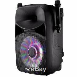 Frisby FS-4065PA Bluetooth Karaoke PA System with Remote Control & 2x Wireless Mic